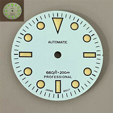 28.5Mm Green Luminous Orange Nail Watch Dial for Nh35/4R36 Movement Spare Parts