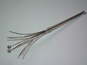Superb Vintage 1956 Solid Silver Propelling Cocktail Swizzle Stick, Working!
