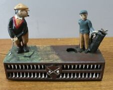 Vintage Cast Iron Birdie Putt Golf used Mechanical Bank