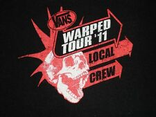 2011 VANS Warped Tour Local Crew Shirt, sz XL. Great gig or stagehand shirt.