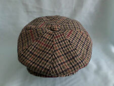 retro traditional wool 20's 30's golf golfers 8 quarter panel newsboy cap