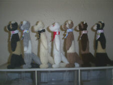 Hand Knitted-Small* CUTE* FERRET* with bandanna & bell