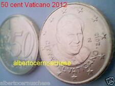50 euro cent centesimi 2012 fdc UNC VATICANO Vatican Vatikan da rotolino