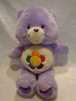 "2003 Play Along Care Bear Harmony Talking 14"" Plush Soft Toy Stuffed Animal"