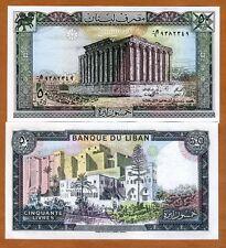 Lebanon, 50 Livres, 1988, P-65 (65d), UNC
