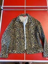 Supreme Leopard Print Trucker Jacket Large Rare