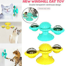Cat Turning Windmill Turntable Tickle Toy Scratch Hair Brush Pet Accessories US