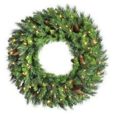 "Vickerman 42"" Unlit Cheyenne Pine Wreath"