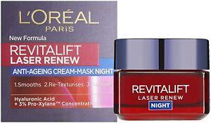 L'Oreal Paris Revitalift Laser Renew Pro-Xylane Anti-Ageing Night Cream 50ml