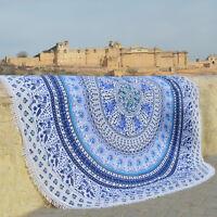 Tapestry Beach Round Towel Mandala Mat Throw Hippie Indian Blanket Picnic Boho