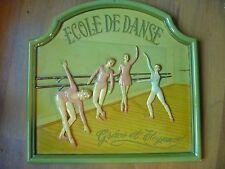 """grand tableau country corner """"ECOLE DE DANSE"""" collector RARE!"""