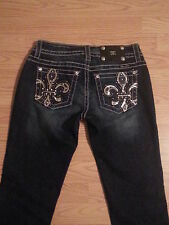 NWT Miss Me Jeans Size 27 Bootcut Jeans Embellished & Sequin Back Pockets