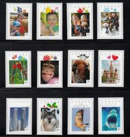12 VERTICAL FRAME DESIGNS of 2012 = Full Set = Picture Postage stamps Canada MNH