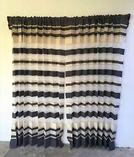 "Oaxaca Mexican Zapotec Window Curtains Handmade Telar 78"" each Panel x 2 Room"