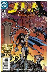 JLA 63 Signed by 4 DC Justice League Wonder Woman Superman Green Lantern