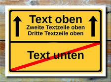 Ortsschild mit Wunschtext Geschenkidee Ortstafel personalisiertes Geschenk Bild