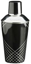 Viners Stainless Steel Black Party Cocktail Cobbler Shaker with Silicone Seal