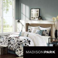 Madison Park Kira 7-piece Comforter Set 100% Polyester, Blue, King, Microfiber