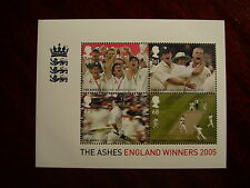 Gb 2005 1St.England Win 'Ashes' Minisheet Issue 4 Values to 68p Mnh.
