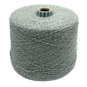 15,90€/kg Weiß / Grau Mouline 1400gr. Schurwolle Merino Strickmaschine Garn