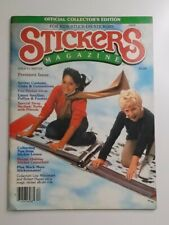 Vintage 80's Stickers Magazine Winter #1 Smellies Puffies Fuzzies Lisa Frank