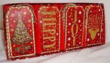 Pooch & Sweetheart 16 Glitter Christmas Gift Tags Merry Joy 84761 Punch Studio