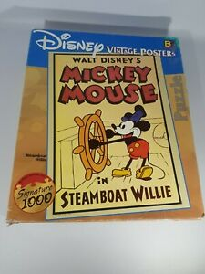 Walt Disney Mickey Mouse in Steamboat Willie Vintage Posters Buffalo Games RARE