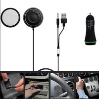 3.5mm AUX Hands Free Wireless 4.0 Bluetooth Car Speaker Phone Mobile USB Charger