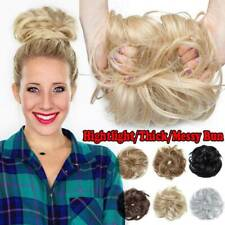 Tousled Messy Bun Hair Piece Thick Scrunchie Pony Tail Hair Extensions As Human