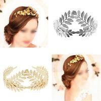 Roman Gold Leaf Tree Branch Crown Headpiece Bridal Wedding Headband Tiara G9S