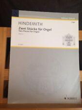 Hindemith 2 pièces pour orgue zwei stücke score partition éditions Schott