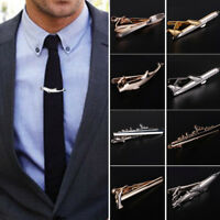 Men Alloy Tie Clip Necktie Pin Clasp Unique Wedding Blazer Suit Jewelry 07AU