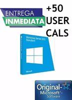 Licencia Key Windows Server 2012 R2 Standard + 50 CALS Genuina Permanente Origin