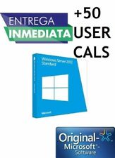 Licencia Key Windows Server 2012 R2 Standard + 50 CALS Genuina Permanente Origin
