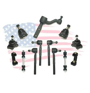 13 Pc Suspension Kit For Chevrolet GMC C1500 C2500 Tie Rods Ball Joints Sway Bar