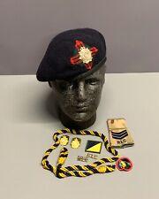 More details for british army scottish transport regiment beret, badges, trf & lanyard. 60cm.
