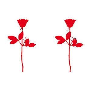 "2 Pcs 10cm 3.94"" rose die cut vinyl decal self adhesive stickers Depeche Mode"