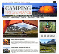 * CAMPING TIPS * blog niche website business for sale with AUTO CONTENT UPDATES!