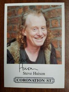 STEVE HUISON *Eddie Windass* CORONATION STREET Pre-Signed Cast Card FREEPOST