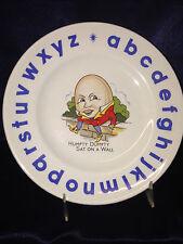 "WOOD & SONS WOO156 CHILD'S PLATE 7"" HUMPTY DUMPTY SAT ON A WALL ALPHABET"