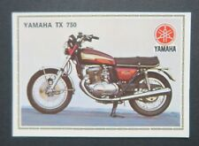 Vignette YAMAHA TX 750 PANINI Super Moto n°180 Sticker Aufkleber 1975