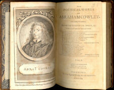 The Poetical Works of Abraham Cowley, 1784, Vol 1, With Life of the Author