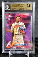 Ronald Acuna Jr 2018 Topps Chrome Update PINK REFRACTOR RC BGS 9.5