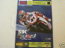 2009 SBK SUPERBIKE WC ROUND KYALAMI SOUTH AFRICA ROUND NO 41 DUCATI XEROX COVER