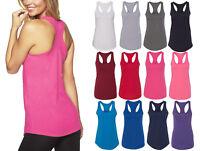 Womens RACER BACK Tank Top Light Weight Work Out Sleepwear Pajamas Nightwear