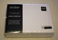 Ardor Home White Queen Bed Cotton Rich 1000 Thread Count Sheet Set New