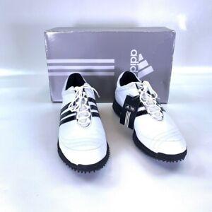 Adidas Womens Adicomfort 2 Golf Sneakers Black Low Top Leather Spike 9M NEW