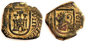 Spain-Felipe III. 8 maravedis. 1719. Burgos. Cobre 6,9 g. Fecha visible