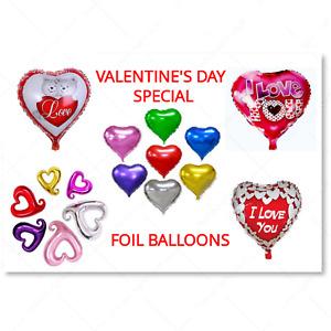 Large Heart Foil Helium Balloons Decor Valentines Day Wedding Party Boyfriend UK