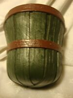 Vintage 1989 Home Interiors HOMCO Bushel Basket Wall Pocket Hanging Planter   36